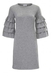 Pletené šaty s volánmi Rick Cardona, sivá #1