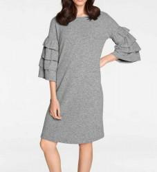 Pletené šaty s volánmi Rick Cardona, sivá #2