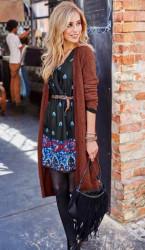 Pletený dlhý sveter Aniston #3