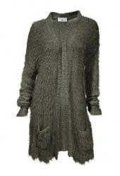 Pletený mäkký sveter s vlasmi Rick Cardona