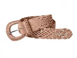 Pletený opasok , staro-ružová