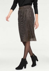 Plisovaná sukňa Aniston, metalická