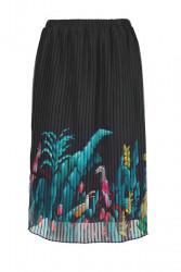 Plisovaná sukňa Ashley Brooke, čierna