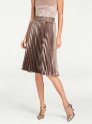 Plisovaná sukňa, metalická #2