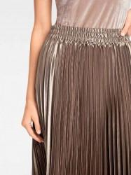 Plisovaná sukňa, metalická #4