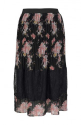 Plisovaná sukňa s čipkou Tamaris, čierna #1