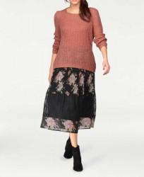 Plisovaná sukňa s čipkou Tamaris, čierna #2