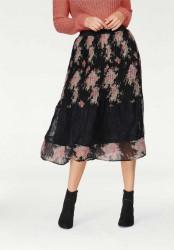 Plisovaná sukňa s čipkou Tamaris, čierna #3