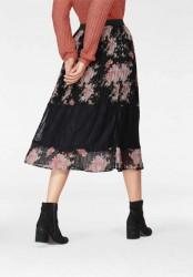 Plisovaná sukňa s čipkou Tamaris, čierna #4