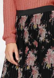 Plisovaná sukňa s čipkou Tamaris, čierna #5
