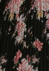 Plisovaná sukňa s čipkou Tamaris, čierna #6