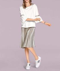 Plisovaná sukňa, strieborná