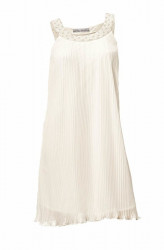 Plisované šaty, krémové Ashley Brooke