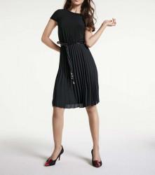 Plisované šaty s opaskom Heine, čierna