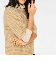 Plyšový sveter, béžový #4