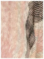 Pončo sveter ružovo-krémový #5