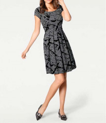 Princeznovské šaty, čierno-biele