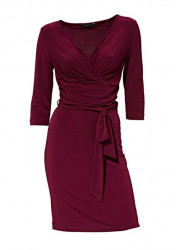Príťažlivé bordové šaty Patrizia Dini