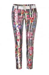 Pruhované džínsy s kvetmi Blue Fire Co., farebné - 29 palcov