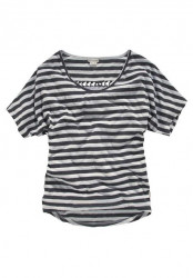 Pruhované tričko Billabong, sivá