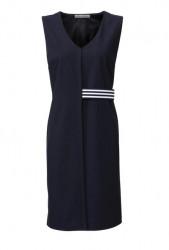 Púzdrové elastické šaty Ashley Brooke, modrá