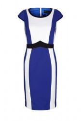 Púzdrové šaty Amy Vermont, kráľovská modro-biela