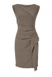 Púzdrové šaty Ashley Brooke, sivo-béžová