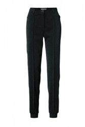 Rafinované nohavice Patrizia Dini, čierne