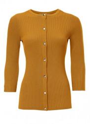 Rebrovaný sveter HEINE, horčicová