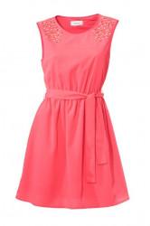 Ružové šaty s perličkami Heine