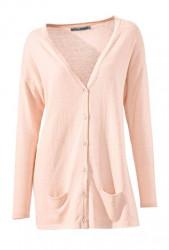 Ružový dlhý sveter s hodvábom Ashley Brooke