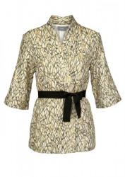 Sako v kimonovom štýle b.young, béžovo-zlatá