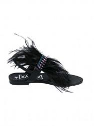 Sandále Dianette s perím, čierna #2