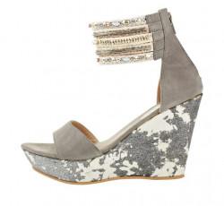 Sandále na platforme xyxyx, sivá #1