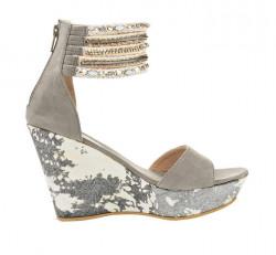 Sandále na platforme xyxyx, sivá #2