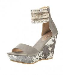 Sandále na platforme xyxyx, sivá #4