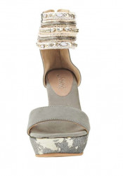 Sandále na platforme xyxyx, sivá #5