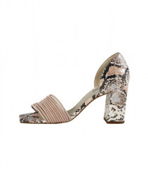 Sandále s ramienkami a hadím vzorom Heine, ružová #1