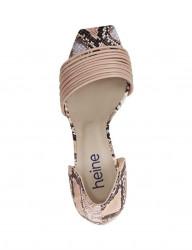 Sandále s ramienkami a hadím vzorom Heine, ružová #3