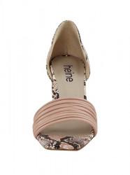 Sandále s ramienkami a hadím vzorom Heine, ružová #4