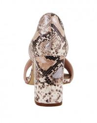 Sandále s ramienkami a hadím vzorom Heine, ružová #5