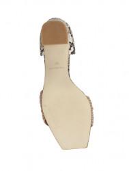 Sandále s ramienkami a hadím vzorom Heine, ružová #6