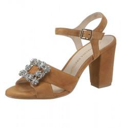 Sandále so štrasom Guido Maria Kretschmer, hnedá