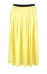 Saténová sukňa Aniston, žltá
