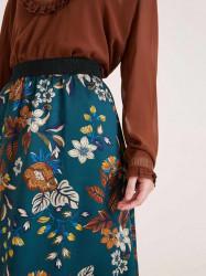 Saténová sukňa HEINE, petrolejová