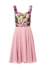 Saténové šaty s kvetinovým vzorom