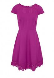 Šaty Ashley Brooke s výšivkou, cyklamenová