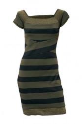 Šaty Heine - Best Connections, zeleno-čierna