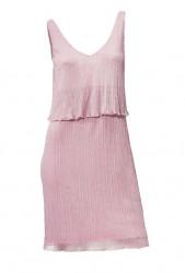 Šaty na ramienka Mandarin, ružová perleť