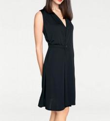 Šaty s eleganciou Rick Cardona, čierna #1